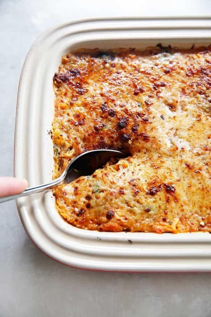 Italian Spaghetti Squash Bake {Grain-free, gluten-free, paleo-friendly option} | Lexi's Clean Kitchen