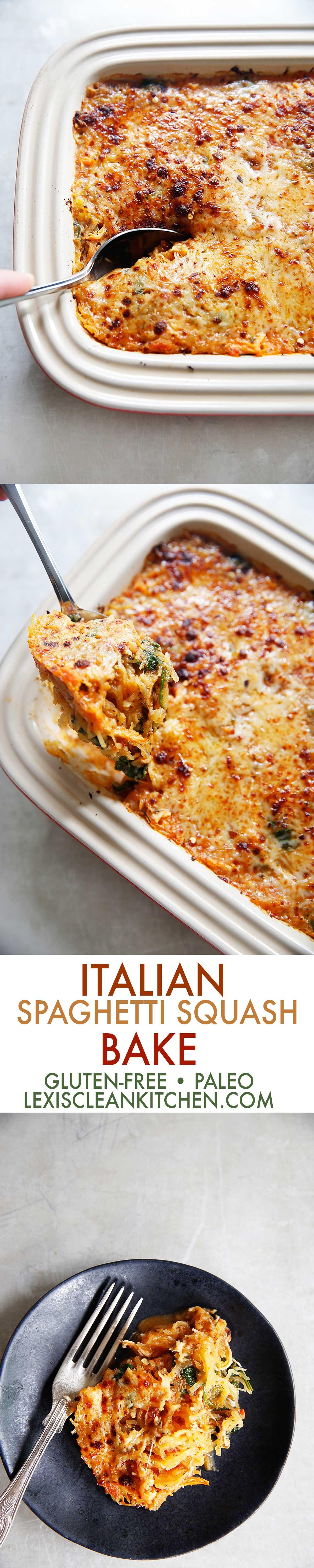 Italian Spaghetti Squash Bake | Lexi's Clean Kitchen