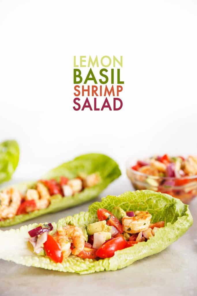 Lemon Basil Shrimp Salad
