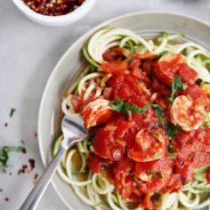 Zucchini Linguine Fra Diavolo