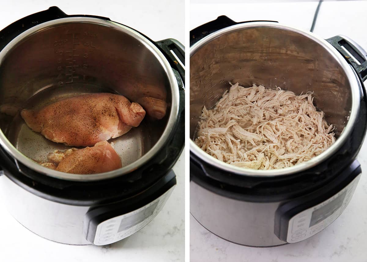 How To cook shredded chicken in instant pot