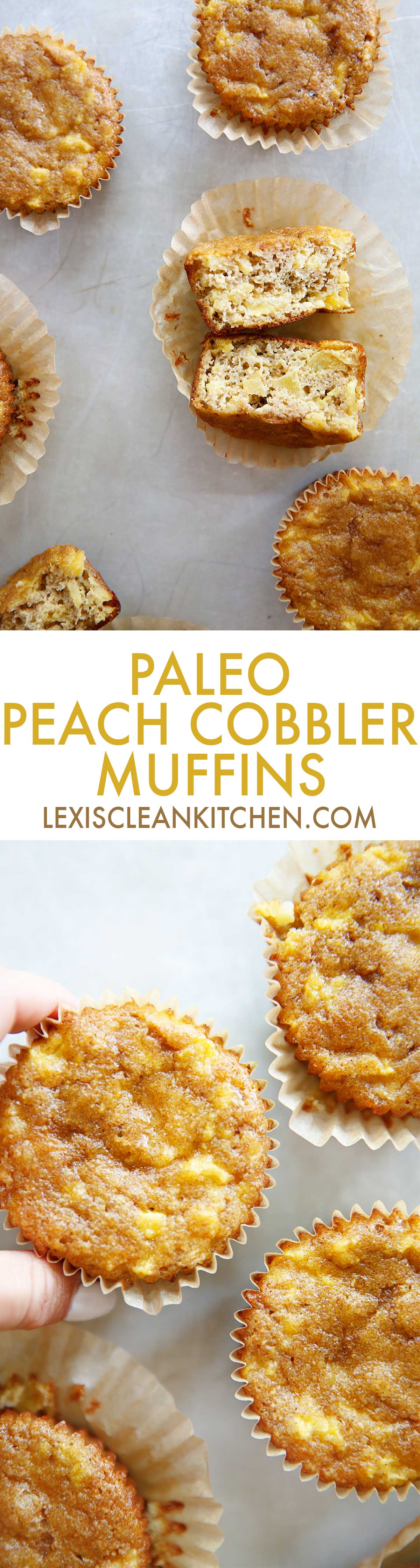 Peach Cobbler Muffins | Lexi's Clean Kitchen