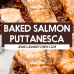 Baked salmon puttanesca