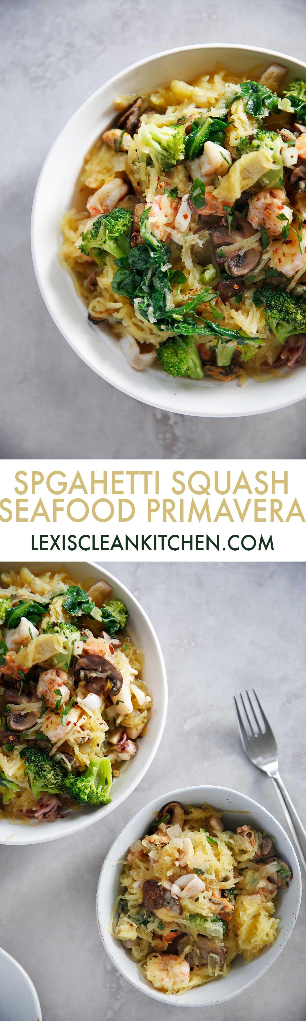 Seafood Primavera [paleo-friendly, dairy-free, gluten-free]   Lexi's Clean Kitchen
