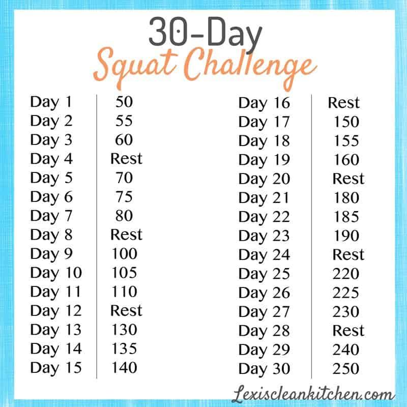 30-Day Squat Challenge - Lexi's Clean Kitchen