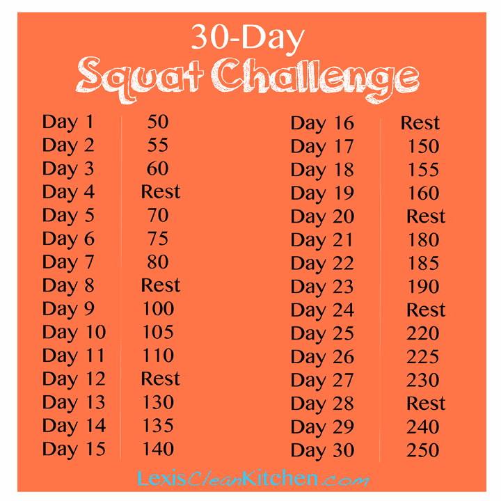 Facebook 30 Day Squat Challenge 30-day Squat Challenge