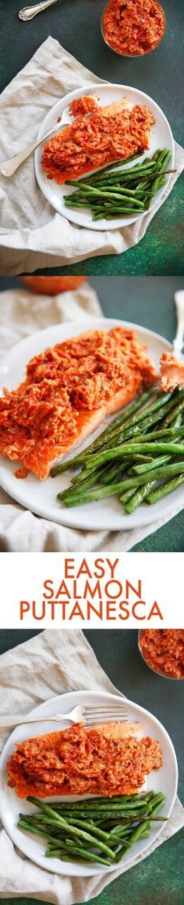 Easy Salmon Puttanesca