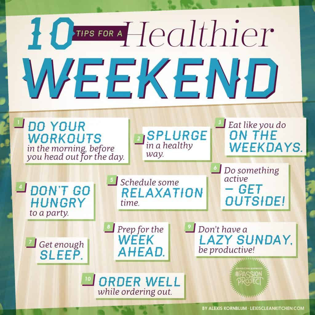 10 Tips for a healthier weekend