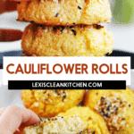 Everything bagel cauliflower rolls