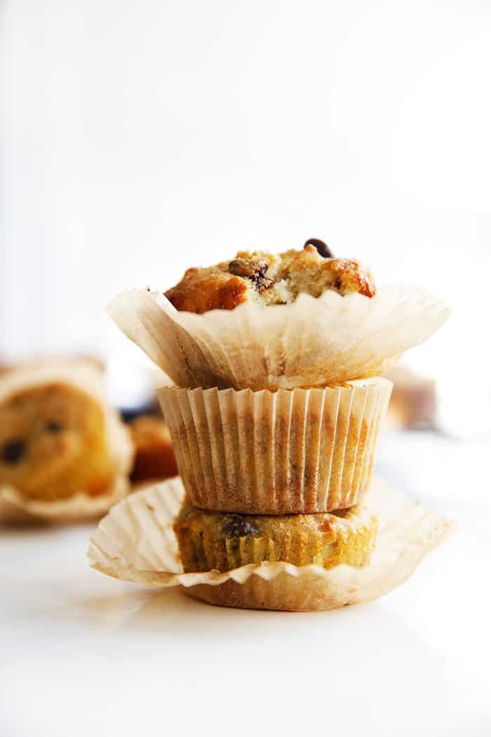 Paleo Chocolate Chip Banana Muffins