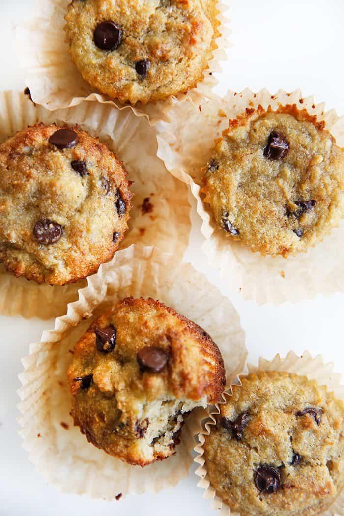 Paleo Chocolate Chip Banana Muffins
