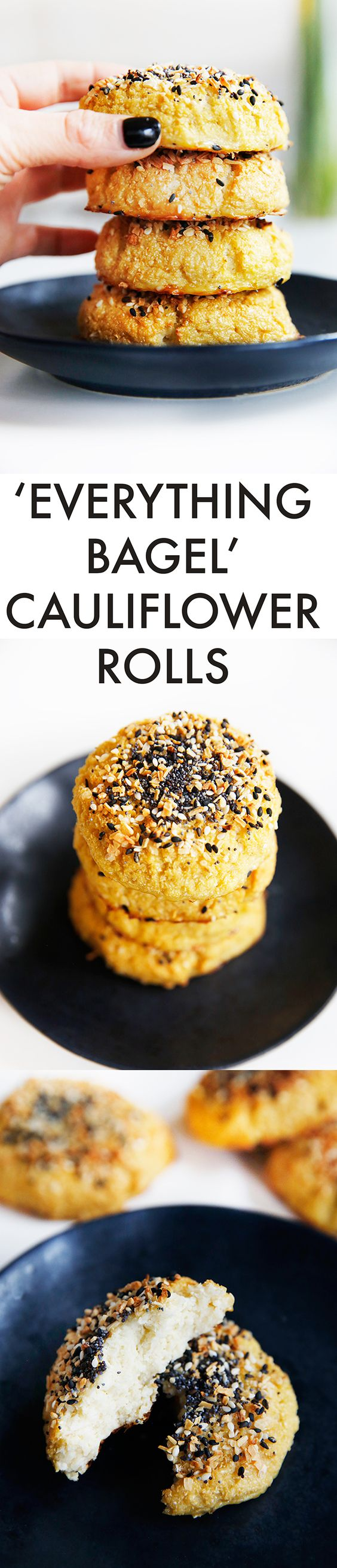 Everything Bagel Cauliflower Rolls {Low-carb, grain-free, paleo-friendly, no refined sugar} | Lexi's Clean Kitchen