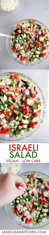 Israeli Salad {low-carb, vegan option, grain-free}   Lexi's Clean Kitchen