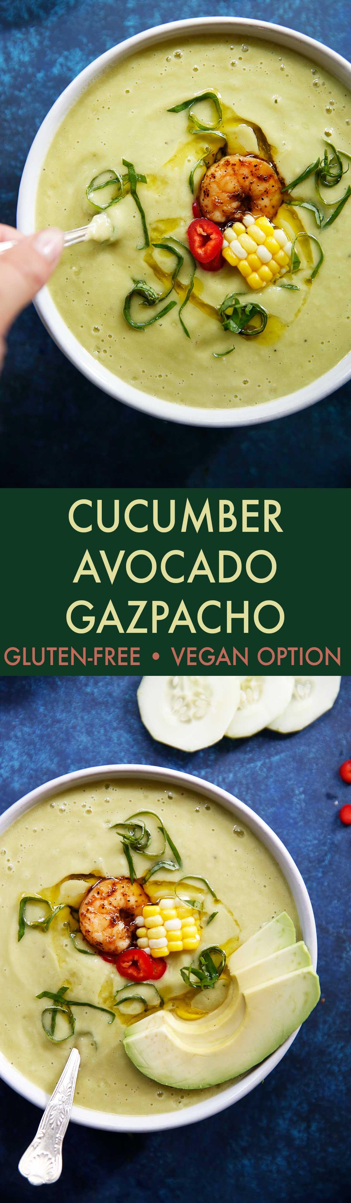 Avocado Gazpacho with Cajun Chili Shrimp   Lexi's Clean Kitchen