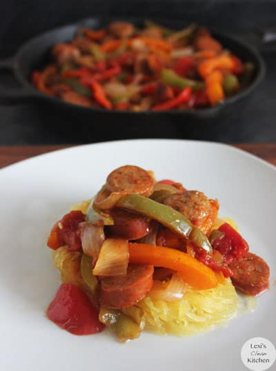 Sausage, Peppers, and Onion Pot | Lexiscleankitchen.com