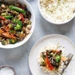 Stir-Fry with Garlic Scallion Cauli-Rice