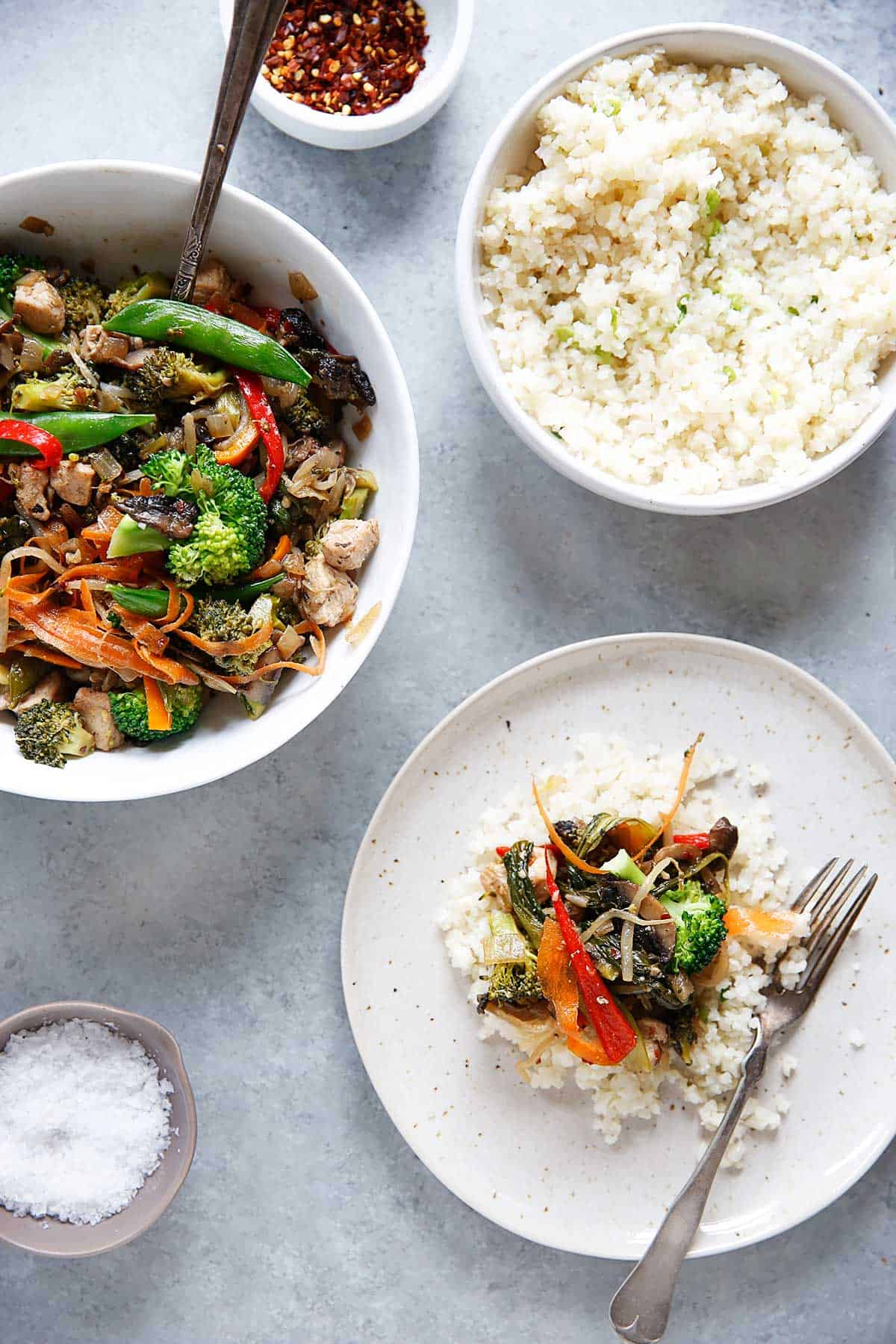 Paleo Chicken Stir Fry meal
