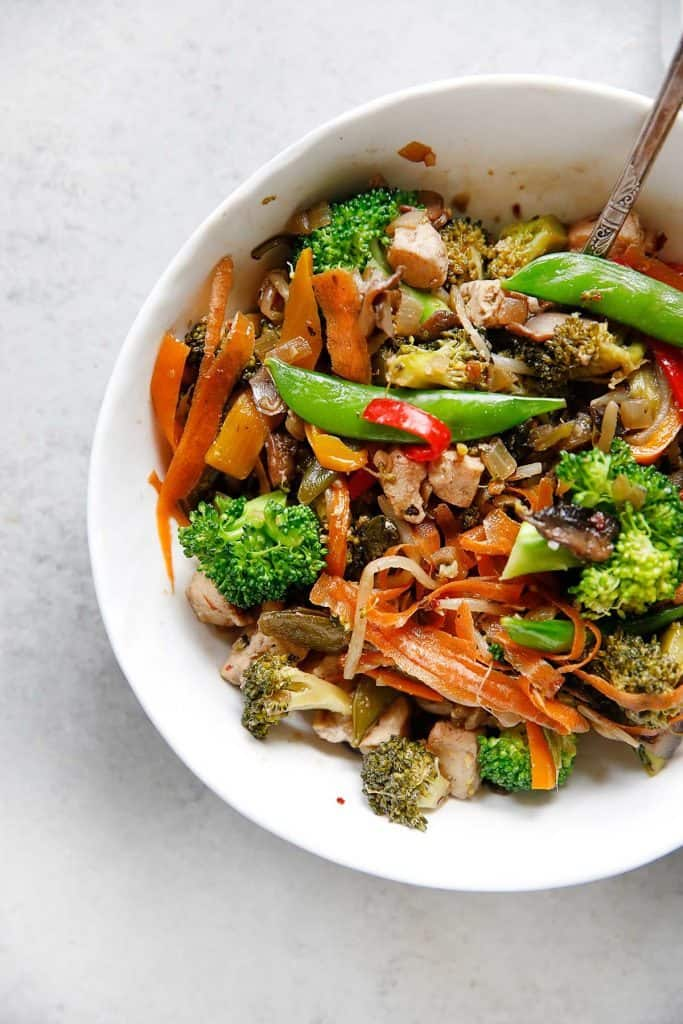 Stir-Fry with Garlic-Scallion Cauli-Rice