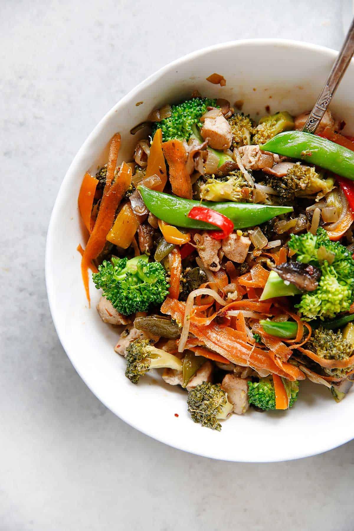 Paleo Stir Fry with cauliflower rice