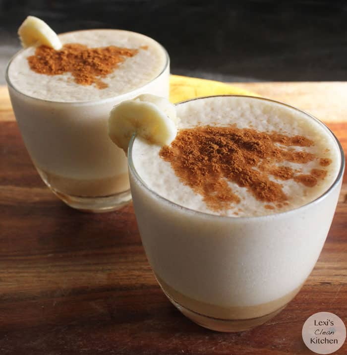 Chai Tea Banana Smoothie | Lexiscleankitchen.com #dairyfree