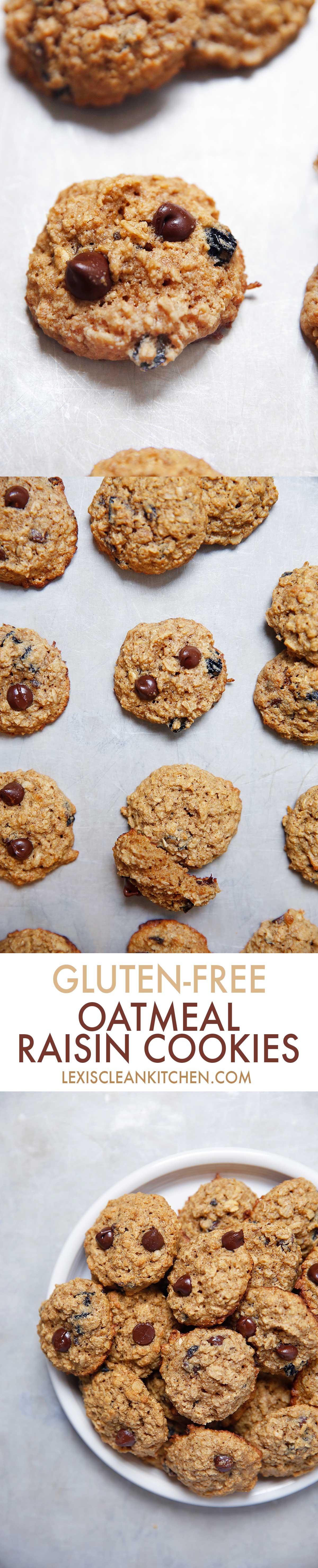 Gluten Free Oatmeal Raisin Cookies (Gluten-free, refined sugar-free}   Lexi's Clean Kitchen