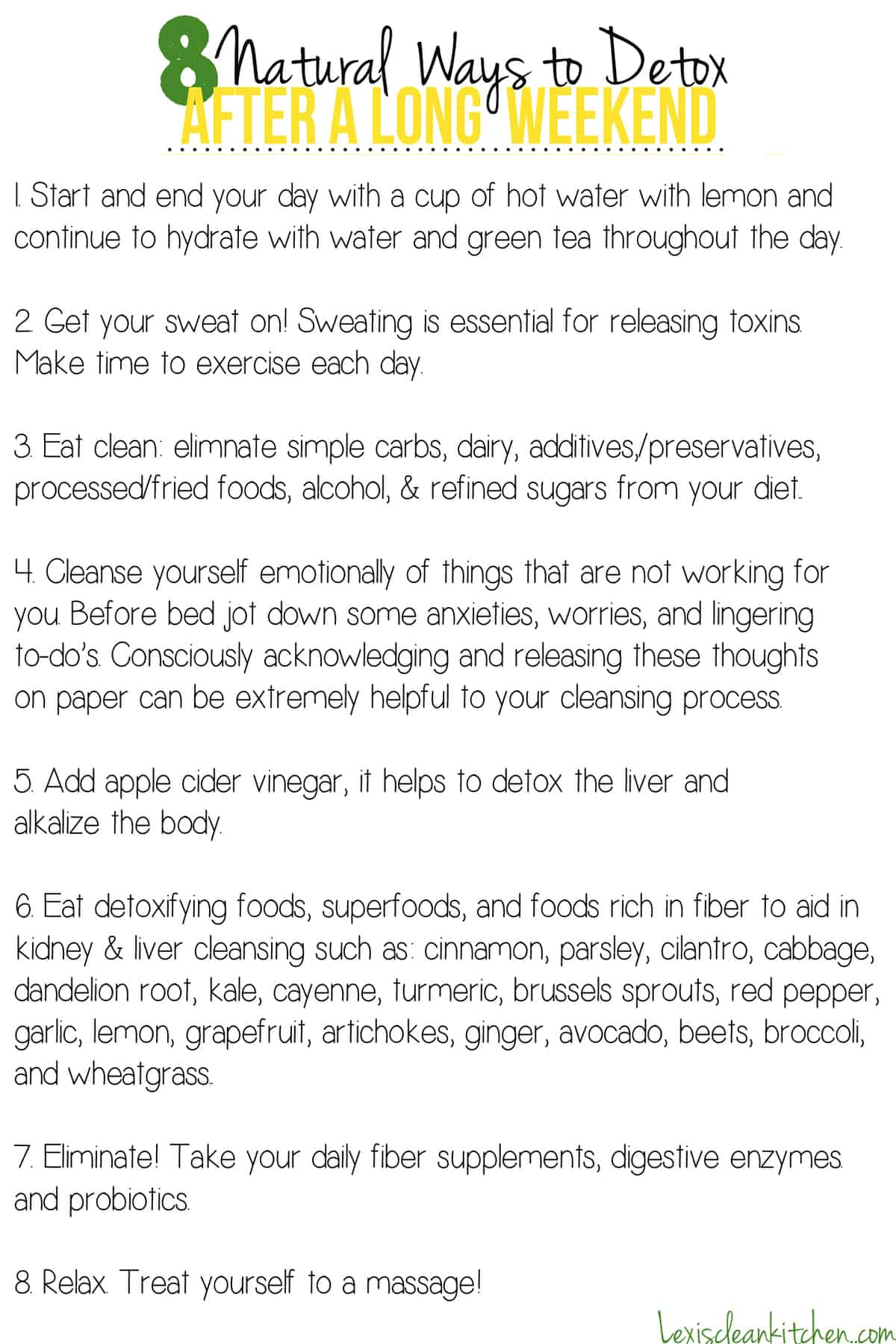 8 Natural Ways to Detox   Lexiscleankitchen.com