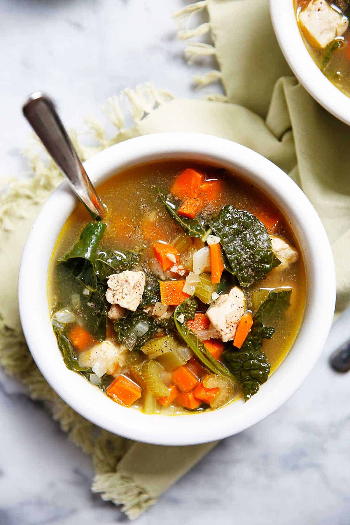 Chicken And Kale Detox Soup Recipe