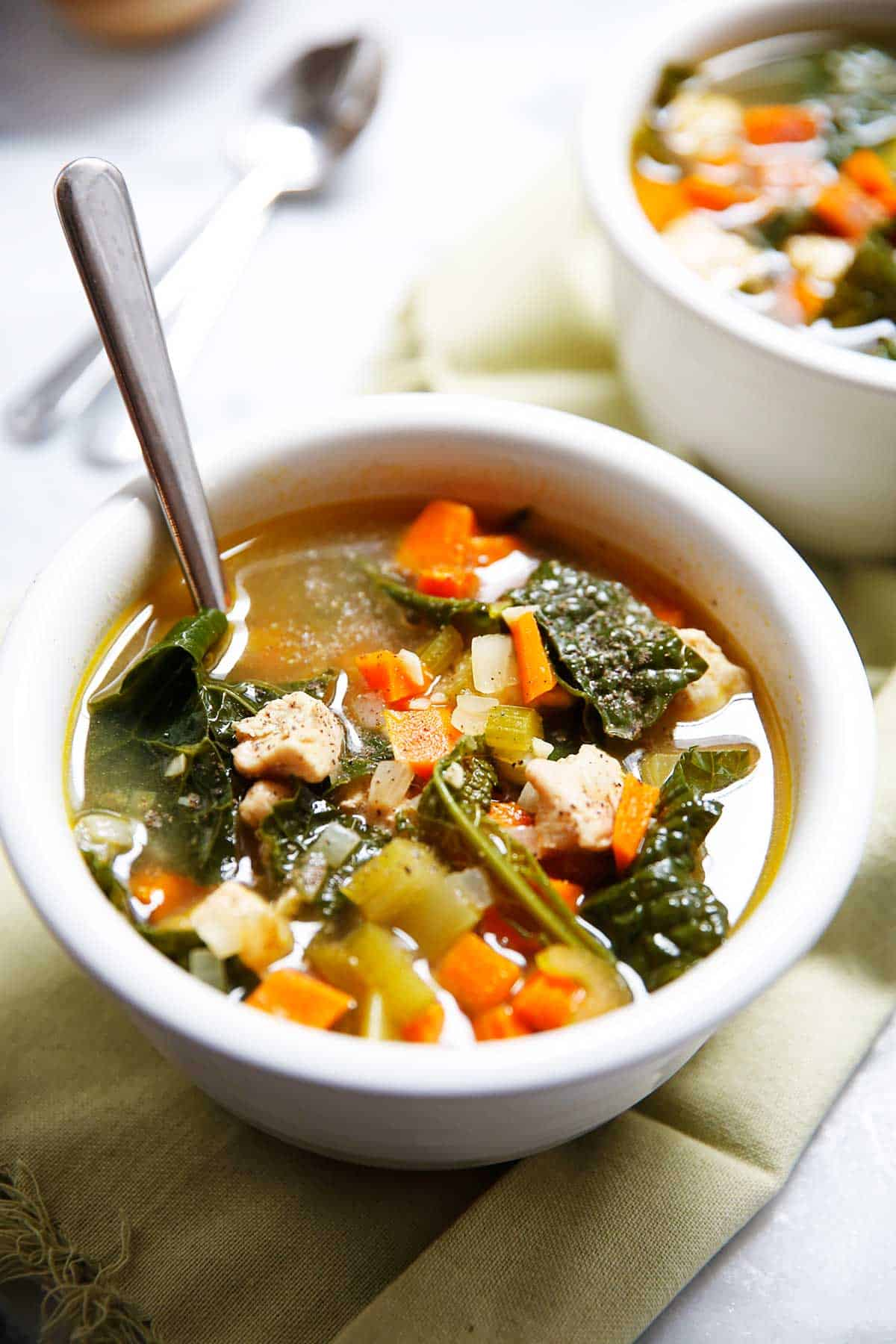 Chicken Kale Detox Soup | Lexi's Clean KItchen