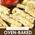 Pinterest pin for eggplant fries.