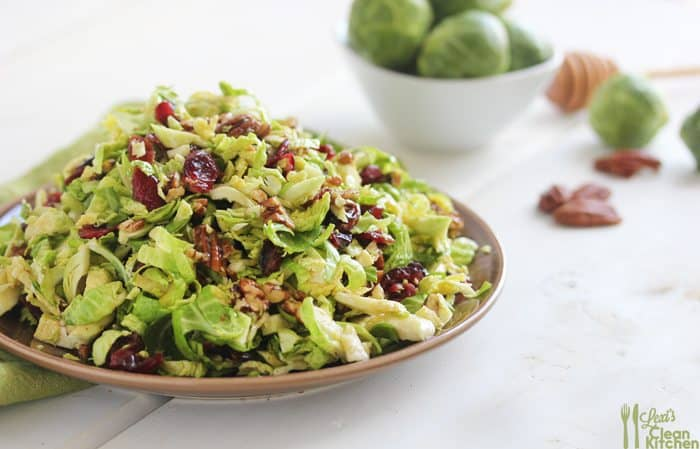 Brussels Sprout Slaw {with Cranberries and Crumbled Candied Pecans} + An LCK Recap
