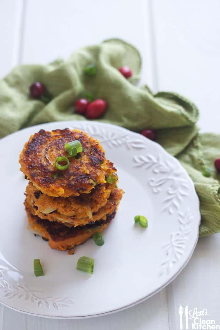 Sweet Potato Latkes | Lexiscleankitchen.com