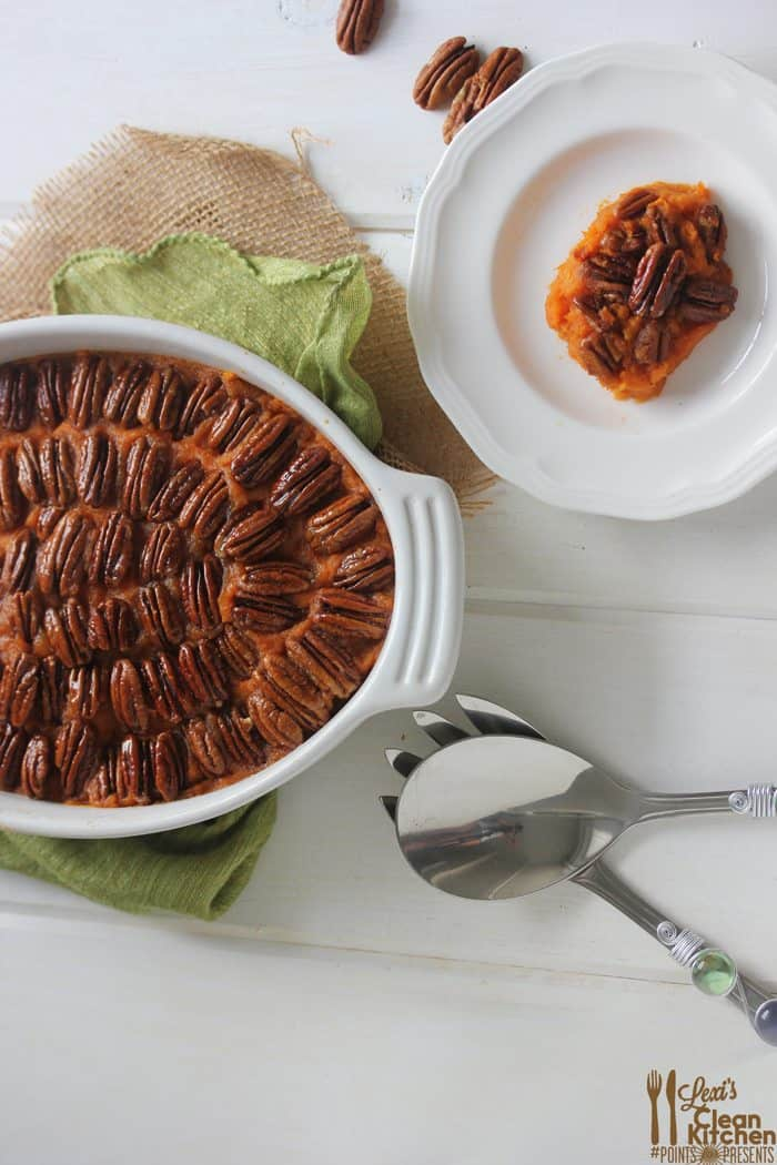 Sweet Potato Casserole with Candied Pecans #PointsForPresents