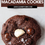 Double Chocolate Macadamia Cookies image for Pinterest.