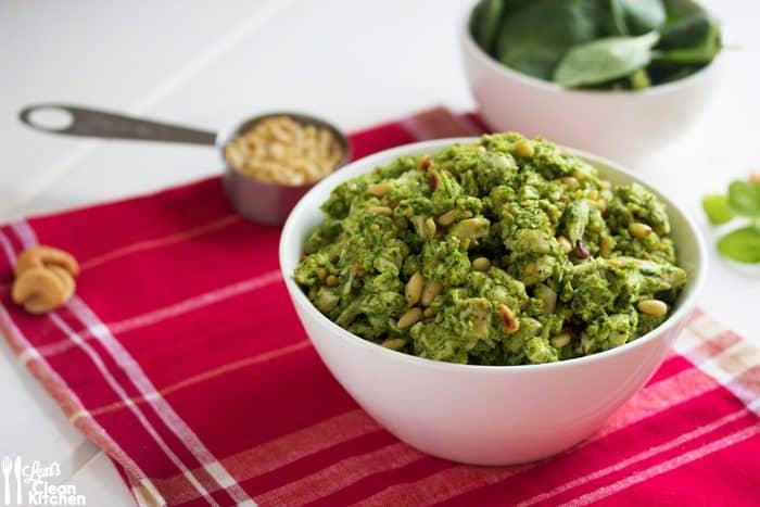 Crock-Pot Pesto Chicken Salad - Lexi's Clean Kitchen