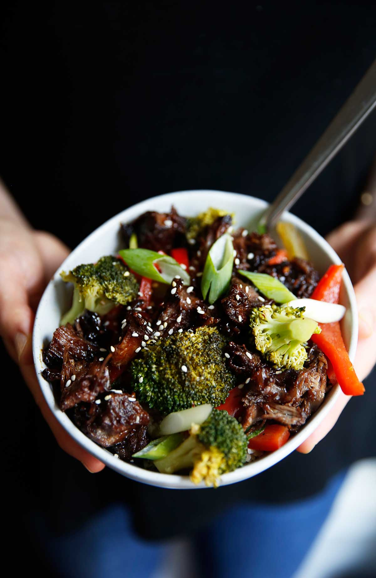 Slow Cooker Asian Beef Bowls | Lexi's Clean Kitchen