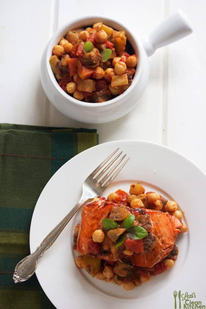 Tomato, Eggplant, and Chickpea Ragout