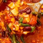 Rustic Tomato Soup with Veggies