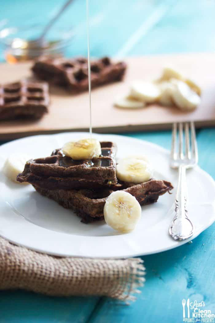 Double Chocolate Banana Waffles