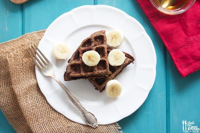 Double Chocolate Banana Waffles - Lexi's Clean Kitchen