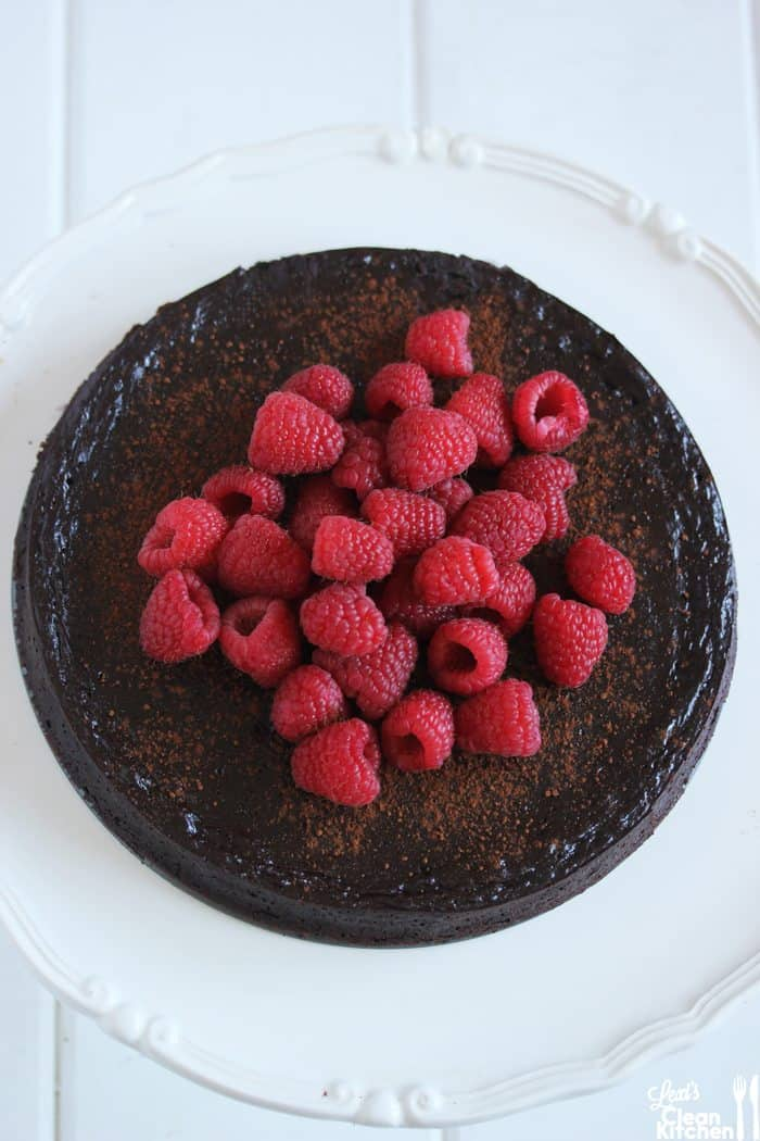 Flourless Chocolate Cake with Berries
