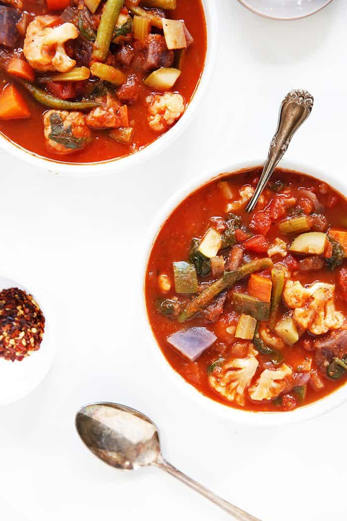 Rustic Vegetable Tomato Soup