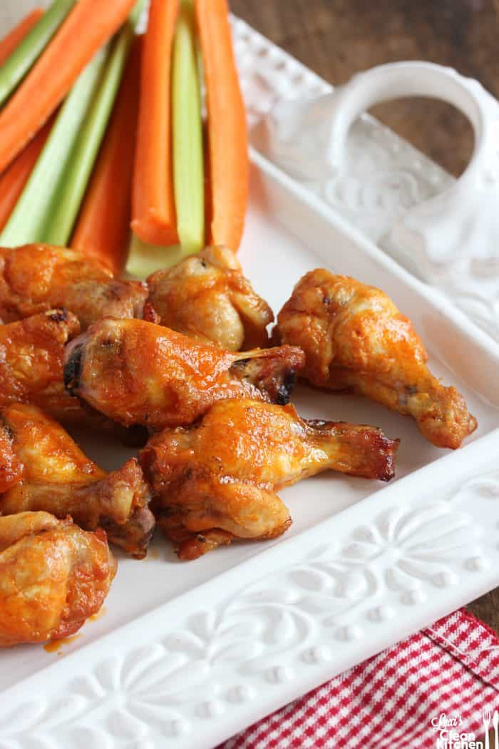 Baked Wings with Buffalo Sauce