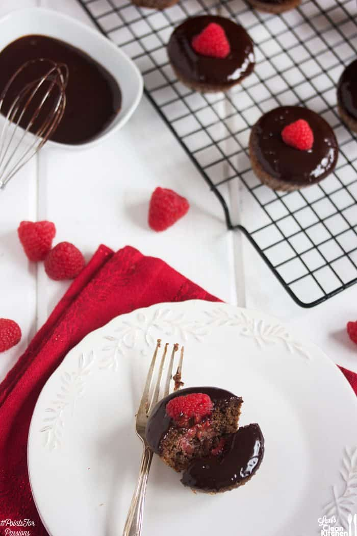 Chocolate Raspberry Ganache Cupcakes