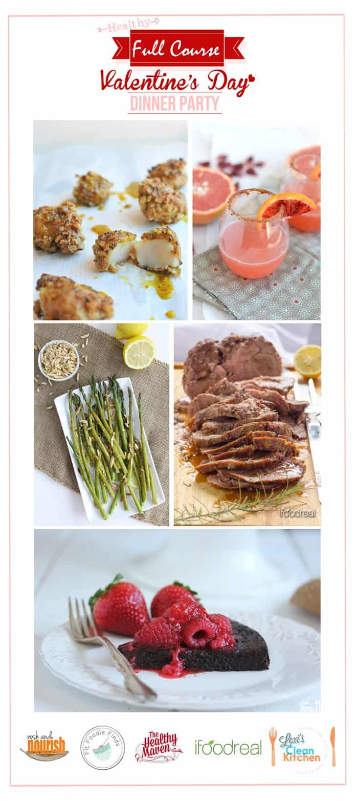 Healthy Valentine's Day Dinner Menu + My Paleo Flourless Chocolate Cake