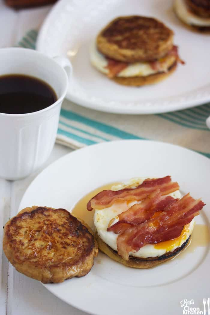 Copy-Cat Paleo McGriddle Breakfast Sandwich