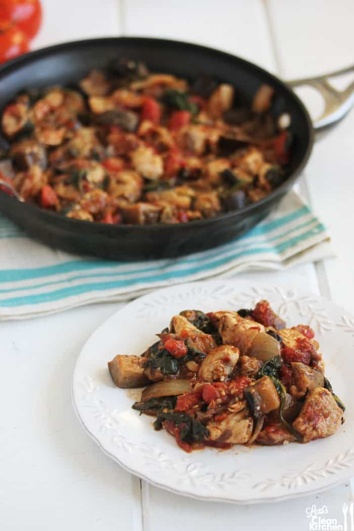 Easy One Pan Eggplant Chicken Dinner Lexi S Clean Kitchen