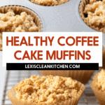 Muffins de bolo de café
