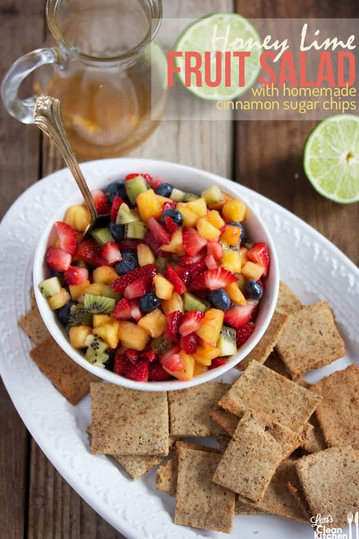Fruit Salad Homemade Chips