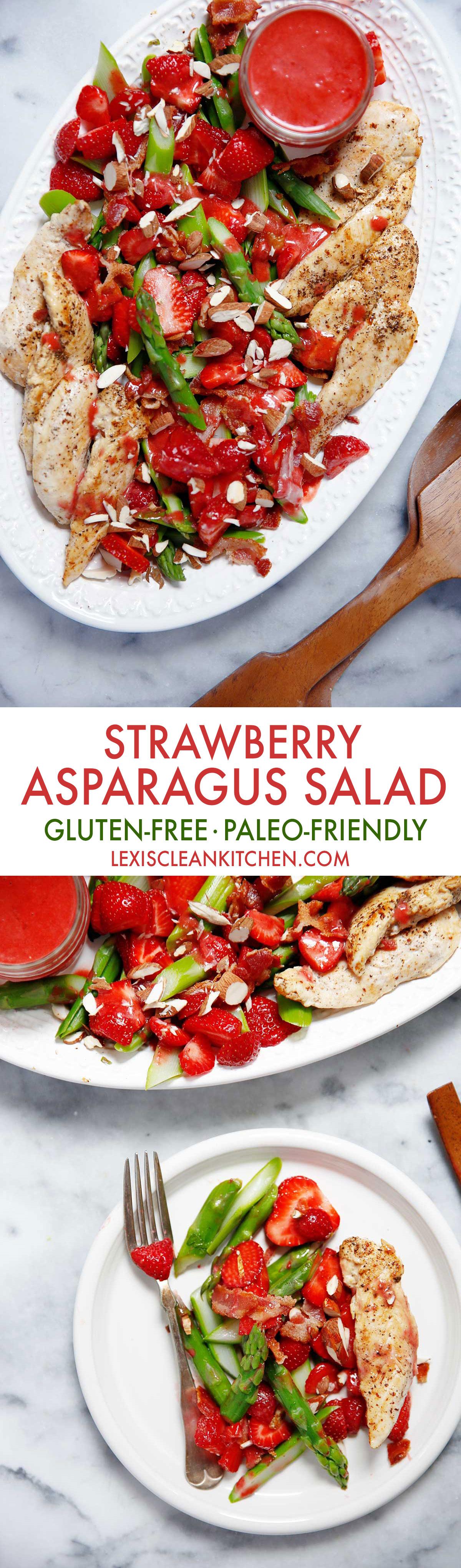Strawberry Asparagus Salad [gluten-free, paleo-friendly, dairy-free]   Lexi's Clean Kitchen