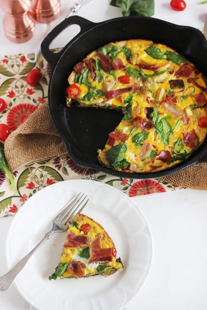 Sweet Potato BLT Frittata - Lexi's Clean Kitchen